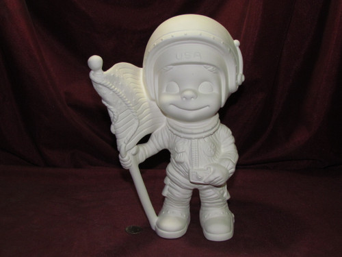 Ceramic Bisque Happy Smiley Figurine Astronaut pyop unpainted ready to paint diy