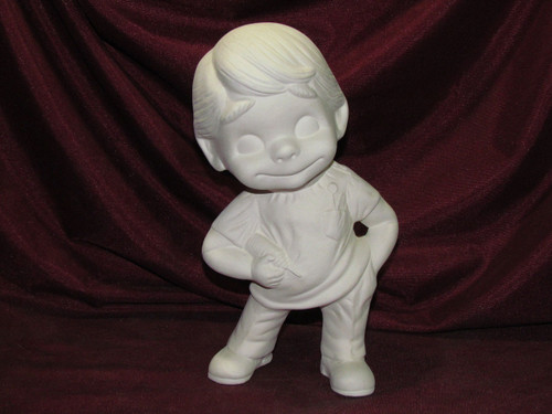 Ceramic Bisque Happy Smiley Figurine Veterinarian or Dentist pyop unpainted ready to paint diy