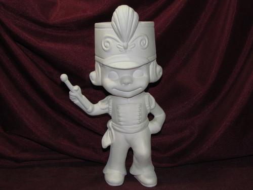 Ceramic Bisque Happy Smiley Figurine Drum Majorette pyop unpainted ready to paint diy