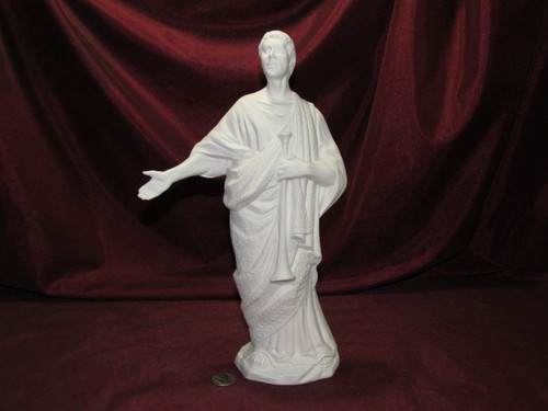 Ceramic Bisque Archangel Gabriel Without Wings pyop unpainted ready to paint diy