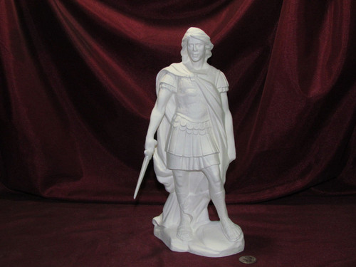Ceramic Bisque Archangel Michael Without Wings pyop unpainted ready to paint diy