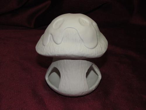 Ceramic Bisque Mushroom Tea Light Candle Holder pyop unpainted ready to paint diy