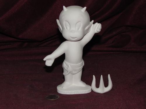 Ceramic Bisque Hot Stuff Devil pyop unpainted ready to paint diy