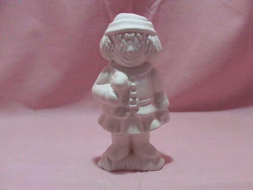 Ceramic Bisque Uncle Clem With Ice Cream Cone  pyop unpainted ready to paint diy
