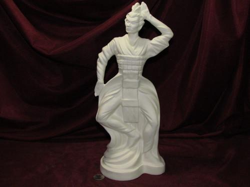 Ceramic Bisque Vintage Oriental Man Dancing pyop unpainted ready to paint diy