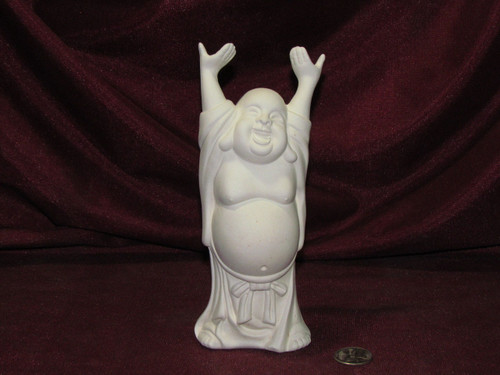 Ceramic Bisque Hoi Toi Laughing Buddha pyop unpainted ready to paint diy