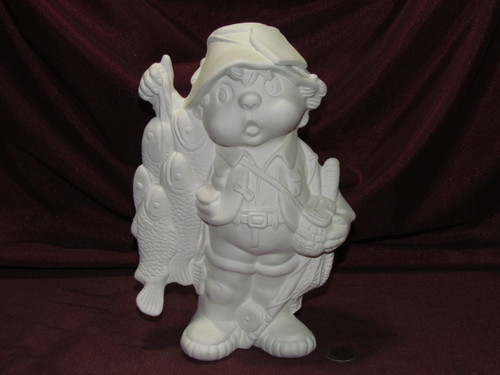 Ceramic Bisque Dandy Fisherman pyop unpainted ready to paint diy