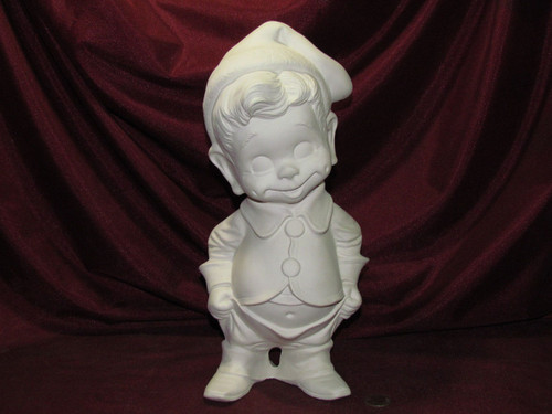 Ceramic Bisque Byron Boy With Bum & Belly pyop unpainted ready to paint diy