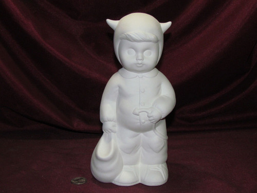 Ceramic Bisque Sweet Tot Trick Or Treater pyop unpainted ready to paint diy