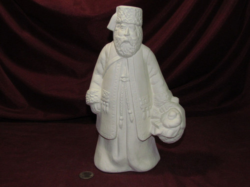 Ceramic Bisque Old World Greek Santa Claus pyop unpainted ready to paint diy