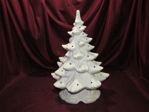 Ceramic Bisque Atlantic Christmas Tree ready to paint