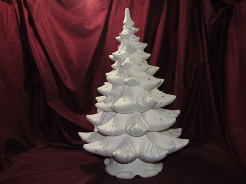 Ceramic Bisque Atlantic Christmas Tree with 2  Rings ready to paint