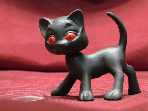 Bobble Head Kitty Cat 1 Standing ~ 2 Piece ~ Hand Painted Bisque ~ Ready to Display