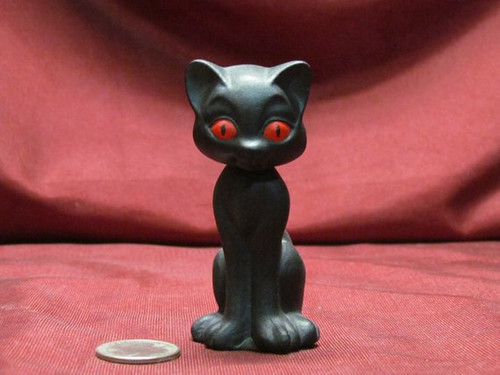 Bobble Head Kitty Cat 3 Sitting ~ 2 Piece ~ Hand Painted Bisque ~ Ready to Display
