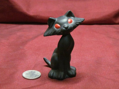 Bobble Head Kitty Cat 4 Sitting ~ 2 Piece ~ Hand Painted Bisque ~ Ready to Display