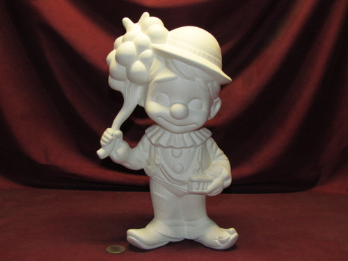 Ceramic Bisque Happy Smiley Figurine Clown pyop unpainted ready to paint diy