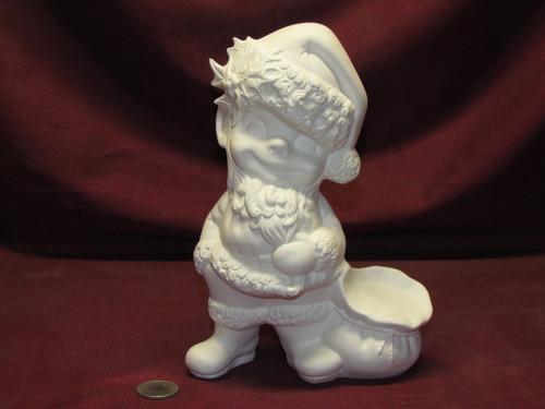 Ceramic Bisque Small Happy Smiley Santa Claus pyop unpainted ready to paint diy