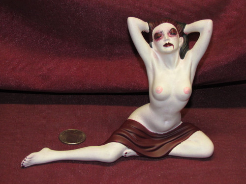 Sexy Vampire ~ Monster Pinup Lady ~ Finished & Ready to Display