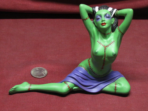 Sexy Frankenstein ~ Monster Pinup Lady ~ Finished & Ready to Display