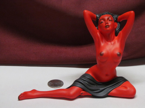 Sexy Devil ~ Monster Pinup Lady ~ Finished & Ready to Display