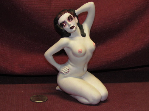 Sexy Vampire Posing ~ Monster Pinup Lady ~ Finished & Ready to Display