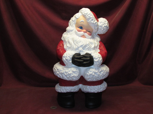 Large Mr Santa Claus ~ Hand Painted Ceramic Bisque ~ Ready to Display