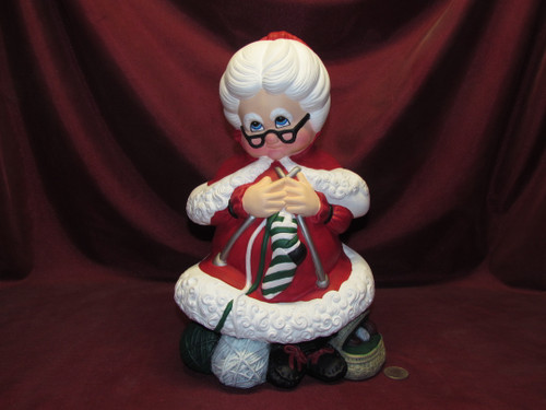 Large Mrs Santa Claus ~ Hand Painted Ceramic Bisque ~ Ready to Display