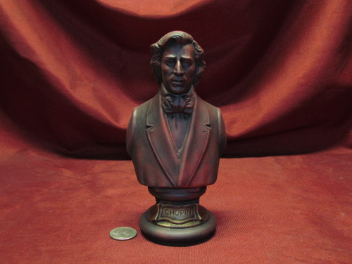 Frédéric Chopin Bust ~ Hand Painted Ceramic Bisque ~ Ready to Display