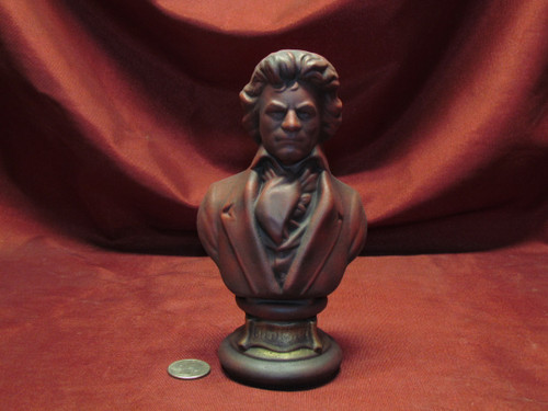 Beethoven Bust ~ Hand Painted Ceramic Bisque ~ Ready to Display