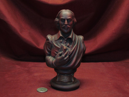 Shakespeare Bust ~ Hand Painted Ceramic Bisque ~ Ready to Display