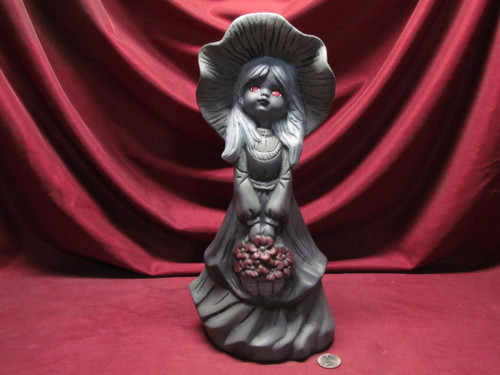 Black & White Rebecca With Red Eyes ~ Hand Painted Bisque ~ Ready to Display