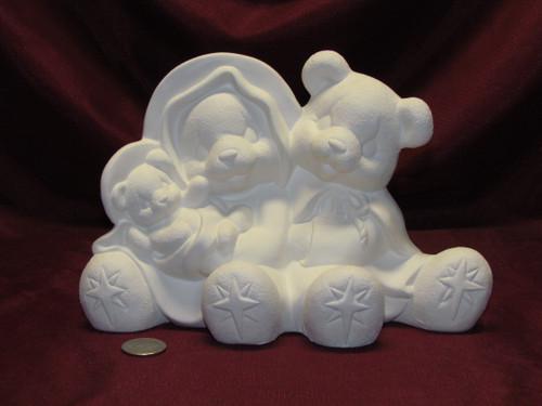 Ceramic Bisque U Paint Nativity Bears ~ Clay Magic Christmas Bear Ready to Paint