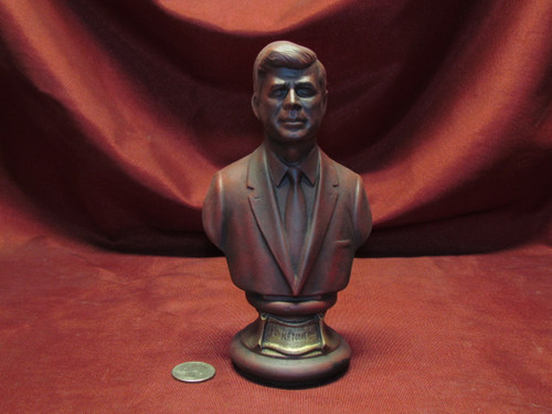 U.S. President John F. Kennedy Bust ~ Hand Painted Ceramic Bisque ~ Ready to Display