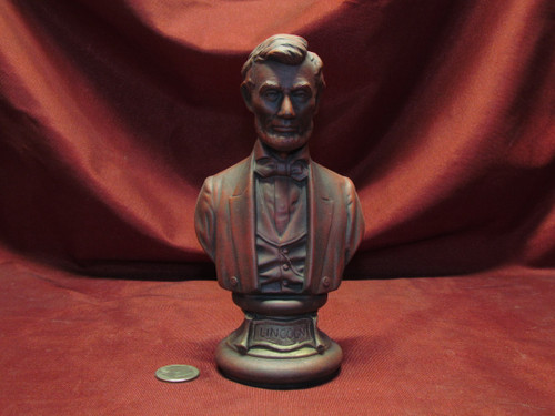 U.S. President Abraham Lincoln Bust ~ Hand Painted Ceramic Bisque ~ Ready to Display