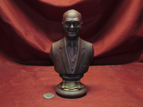U.S. President Dwight D. Eisenhower Bust ~ Hand Painted Ceramic Bisque ~ Ready to Display