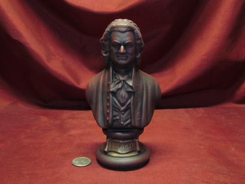 Johann Sebastian Bach Bust ~ Hand Painted Ceramic Bisque ~ Ready to Display