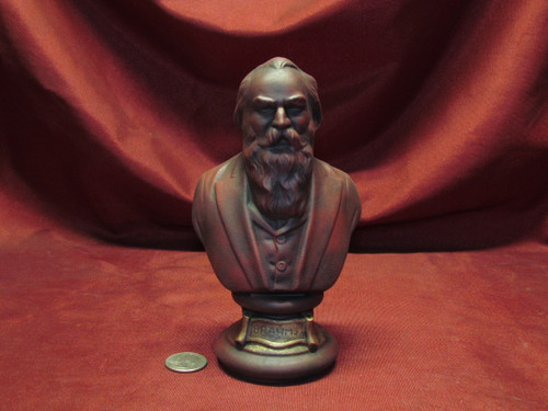Johannes Brahms Bust ~ Hand Painted Ceramic Bisque ~ Ready to Display