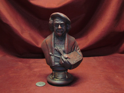 Rembrandt Bust ~ Hand Painted Ceramic Bisque ~ Ready to Display