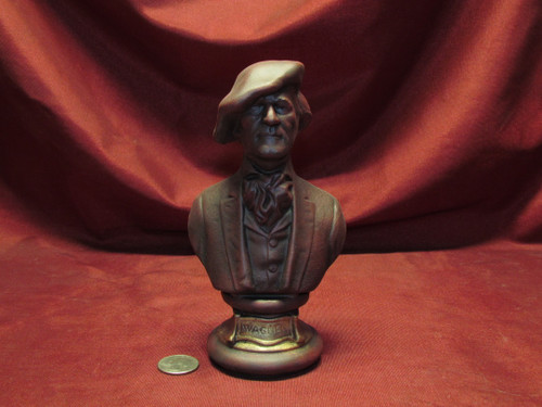 Richard Wagner Bust ~ Hand Painted Ceramic Bisque ~ Ready to Display