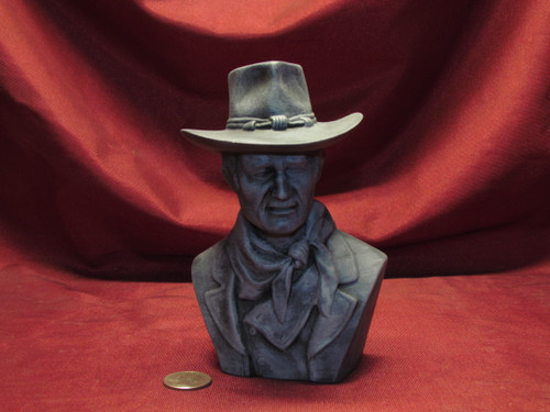 John Wayne Bust ~ Hand Painted Ceramic Bisque ~ Ready to Display