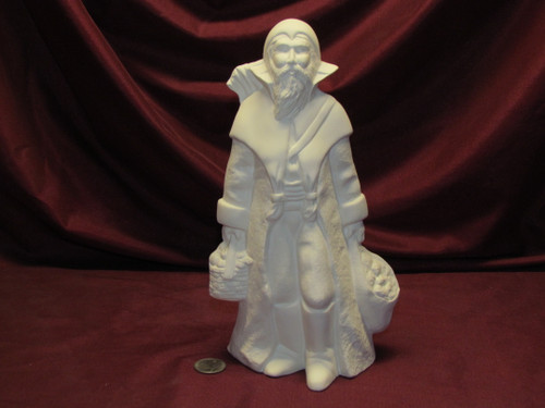 Ceramic Bisque Old World Black Peter Santa Claus U Paint ~ Ready to Paint Unpainted U-Paint DIY Christmas Zwarte Piet