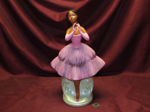 Dancing Ballerina (center) ~ Hand Painted Bisque ~ Ready to Display