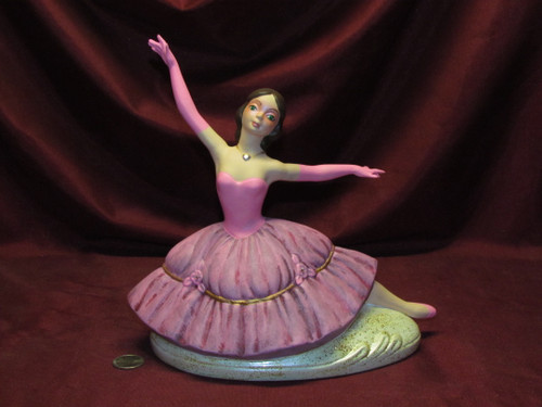 Dancing Ballerina (right) ~ Hand Painted Bisque ~ Ready to Display