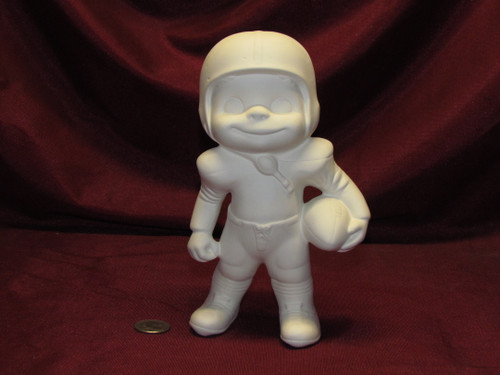 Ceramic Bisque U-Paint Small Smiley Football Boy Happy Vintage Unpainted ready to paint diy