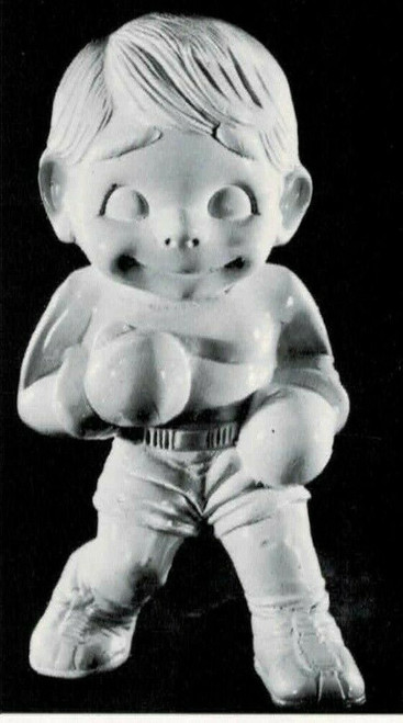 Ceramic Bisque Happy Smiley Boxer ~ Boxing - Sports unpainted ready to paint diy