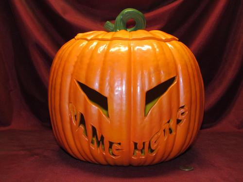 Big Halloween Pumpkin Lamp ~ Choose Your Name ~ Finished Ceramic Bisque