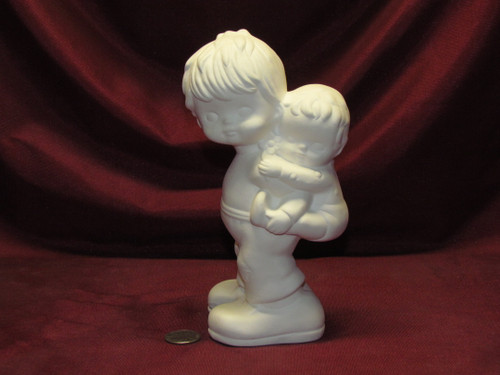 Ceramic Bisque Big & Little Brothers U-Paint Unpainted Ready To Paint DIY