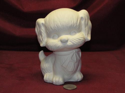Ceramic Bisque U-Paint Dog Puppy - Zedog Cute Unpainted Ready To Paint DIY