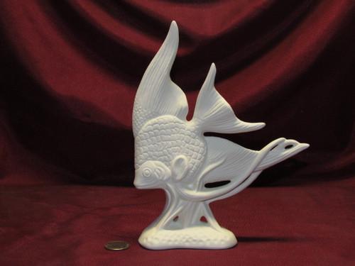 Ceramic Bisque U-Paint Angelfish Unpainted Ready To Paint DIY Fish