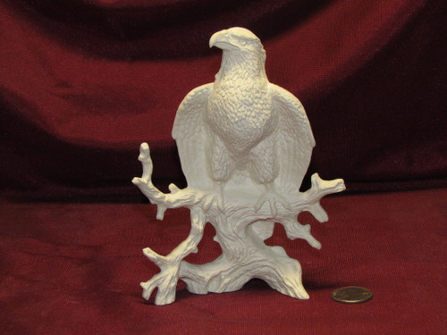 Ceramic Bisque U-Paint Small Eagle Bird Unpainted Ready To Paint DIY
